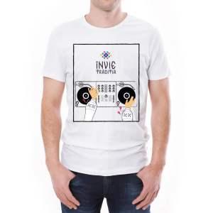 Tricou bărbați DJ Învie Tradiția alb/negru