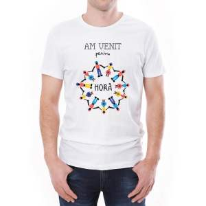 Tricou bărbați Horă Invie Traditia alb/negru