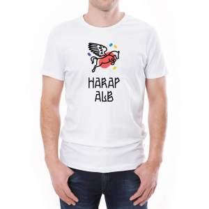 Tricou bărbați Harap Alb Învie Tradiția alb/negru
