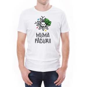 Tricou bărbați Muma Pădurii Învie Tradiția alb/negru