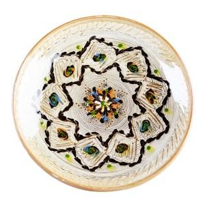 Farfurie Ceramica Horezu Model Floral Incadrat Stea 26 cm - Diverse modele