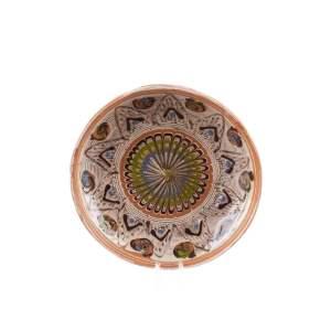 Farfurie din ceramică de Horezu 16 cm