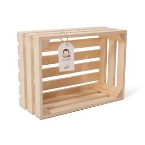 """Lădiță din lemn de brad 35 x 25 x 14 cm """"Dragobete"""""""