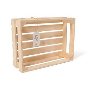 """Lădiță din lemn de brad 40 x 30 x 13 cm """"Fat Frumos"""""""