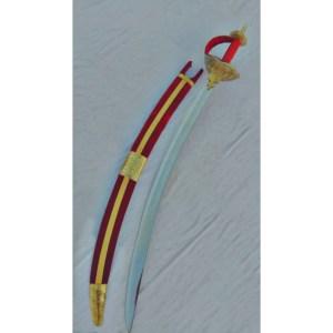 CHHATRAPATI BHAWANI TALWAR (CURVED BLADE) (HILT – BRASS ENGRAVED MADE)