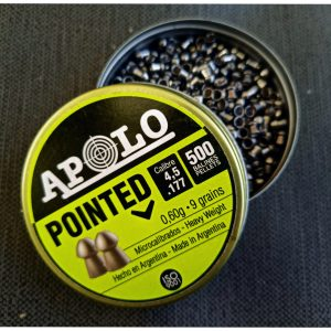APOLO POINTED(9 grain pellets)(177/4.5mm) Made In Argentina