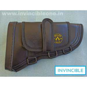 Gun Butt Cover, 23 cm x 15 cm x 6  Carry Case/Cover Free Size  (Black leather)