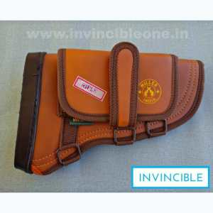 Gun Butt Cover, 23 cm x 15 cm x 6  Carry Case/Cover Free Size  (brown leather)