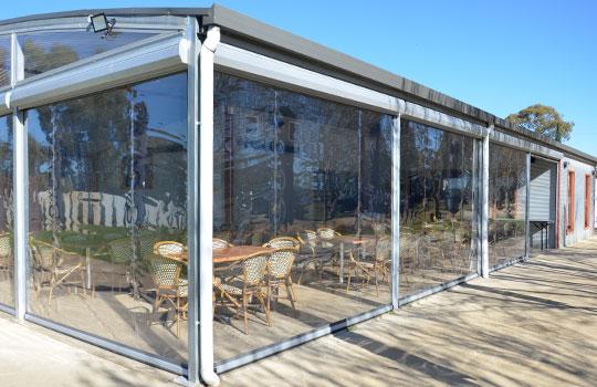Café Blinds Aldgate   Clear PVC Blinds Aldgate   Ziptrak