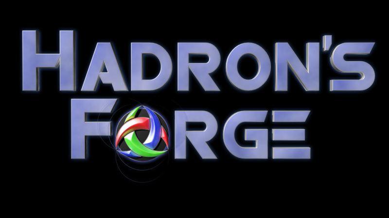 Game Logo - Hadron's Forge (Black)