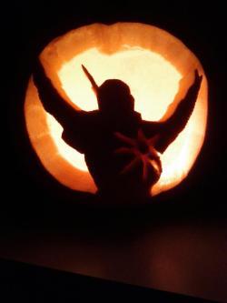 Dark Souls Inspired Pumpkin - Source redditweekly