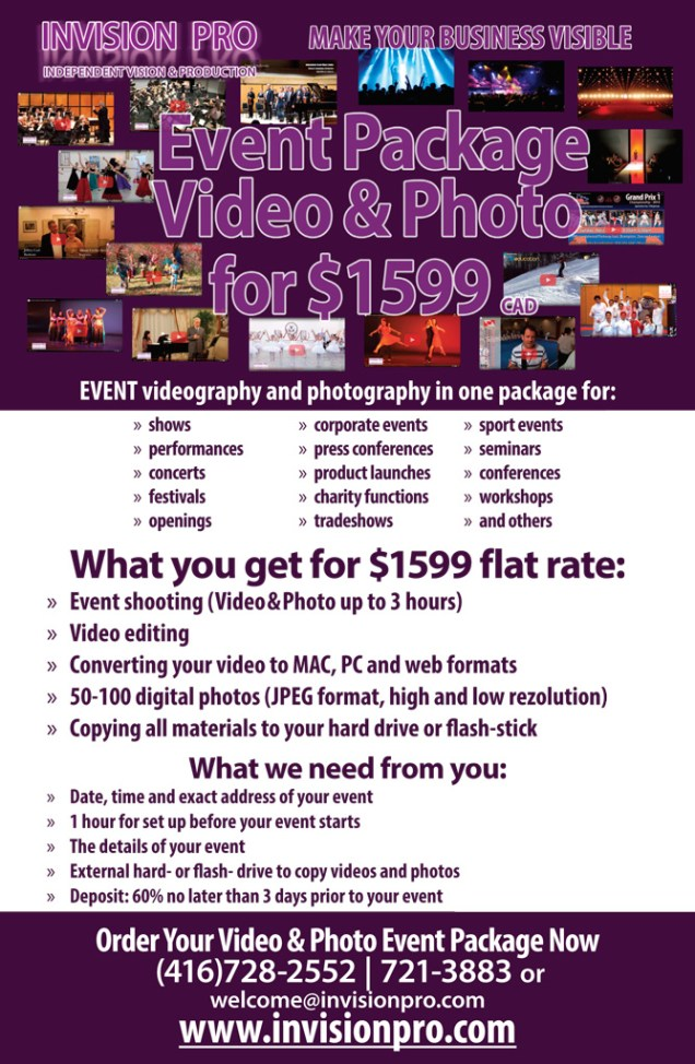 InvisionPro-FlatRateServices-EventVideo-Photo-Package