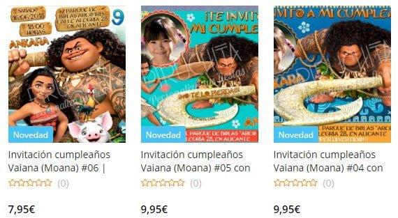 Invitación de cumpleaños de Vaiana / Moana personalizada para imprimir