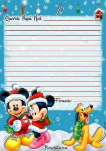 Carta Papá Noel de Mickey Mouse