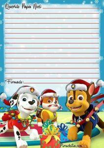 Paw Patrol Santa Letter free