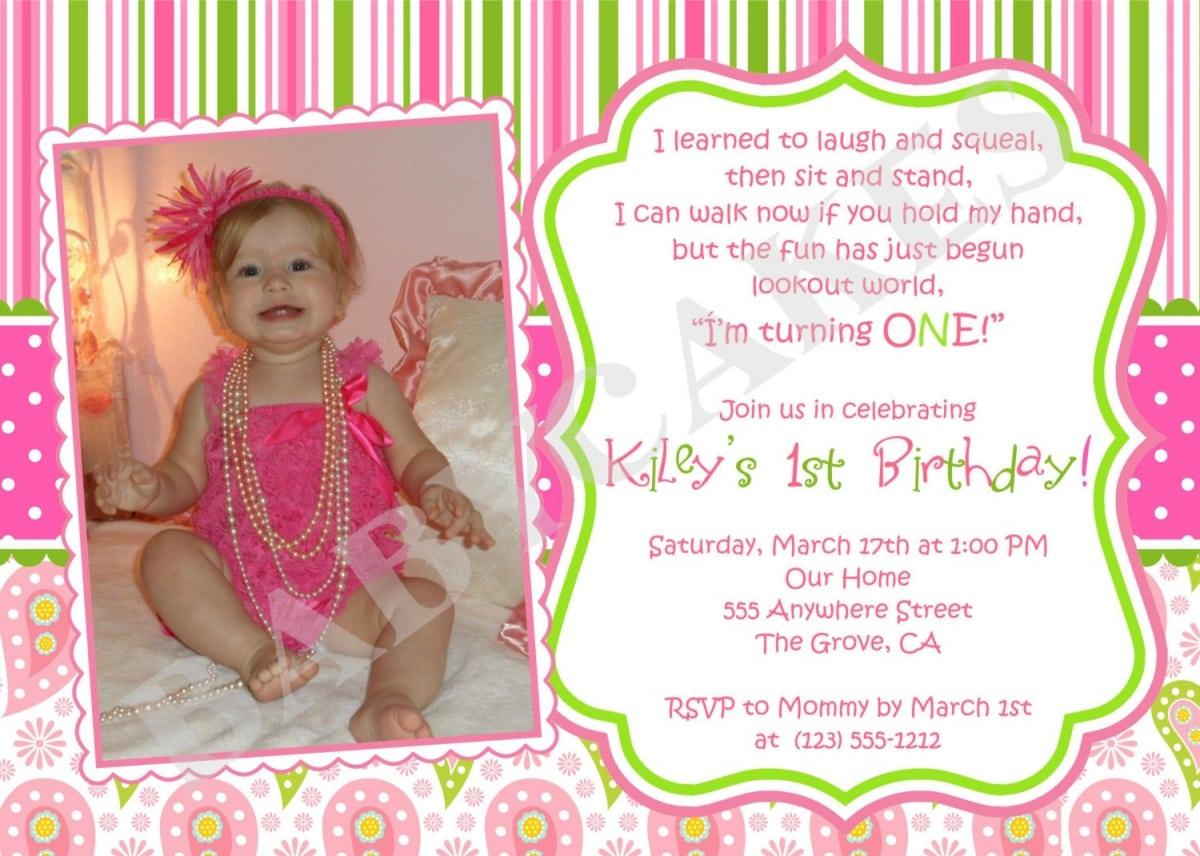 1st Birthday Invitations Templates. 1st birthday invitations ...