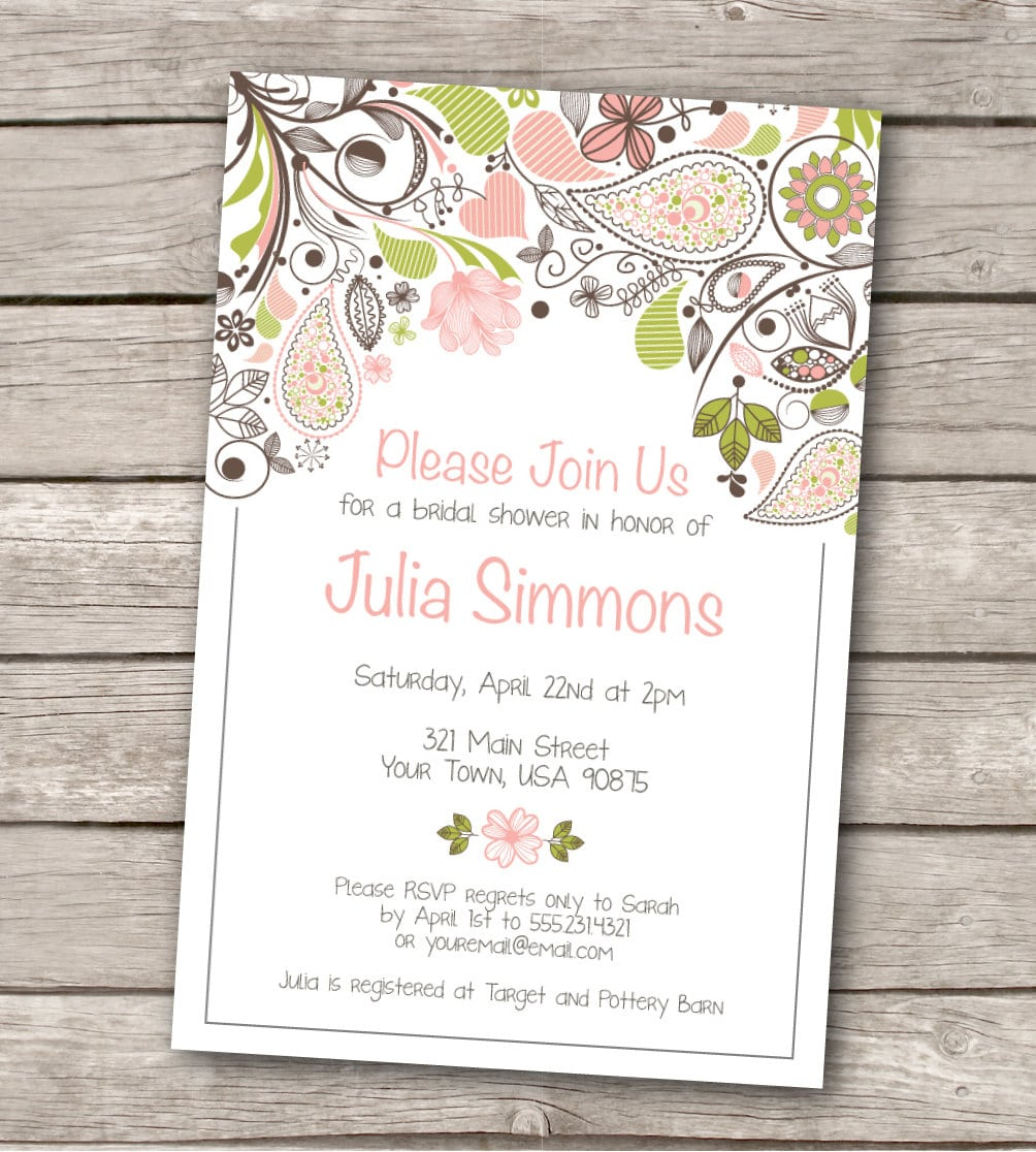 Free Printable Wedding Shower Invitation Templates ctsfashioncom