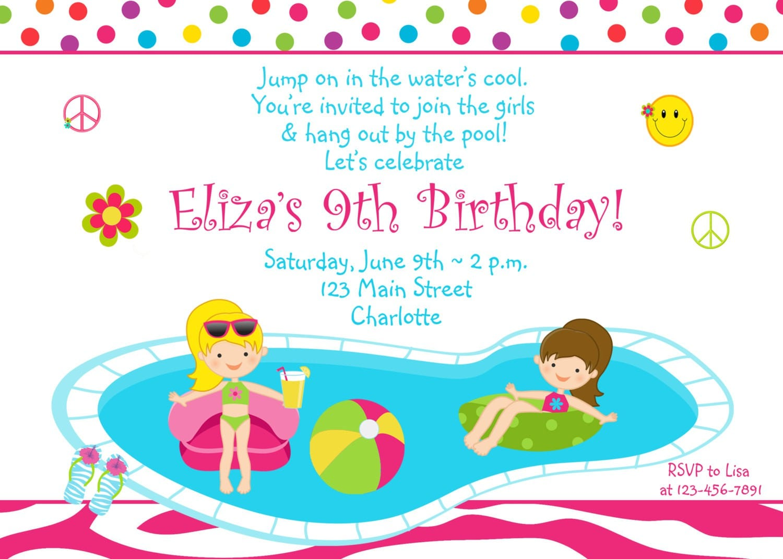kids birthday party invitation letter sample Invitationjdico