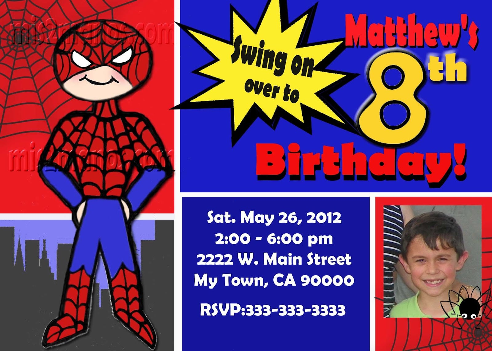 spiderman invites templates