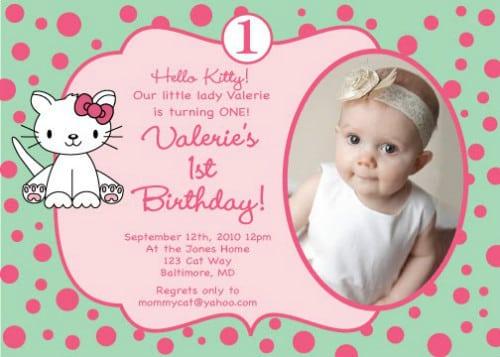 hello kitty sample birthday invitations