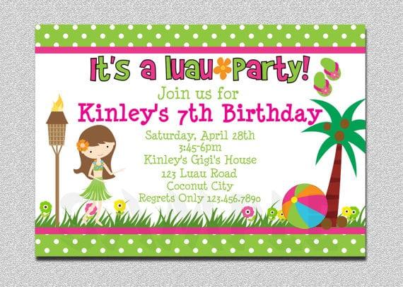 Free Luau Invitation Templates Hawaiian Party Birthday By Lisamariespaperie Invitations Tropical