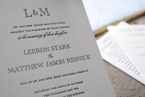 Ultra Elegant Black And White Typographic Wedding