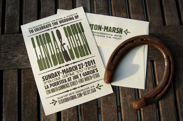 Custom Layered Wedding Invitations Dragonfly Designs Austin Texas