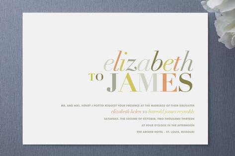 Invites Typography Wedding Invitations