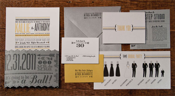 New Year S Eve Wedding Invitations