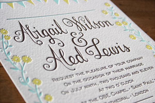 Hand Lettered Fern Wedding Invitations
