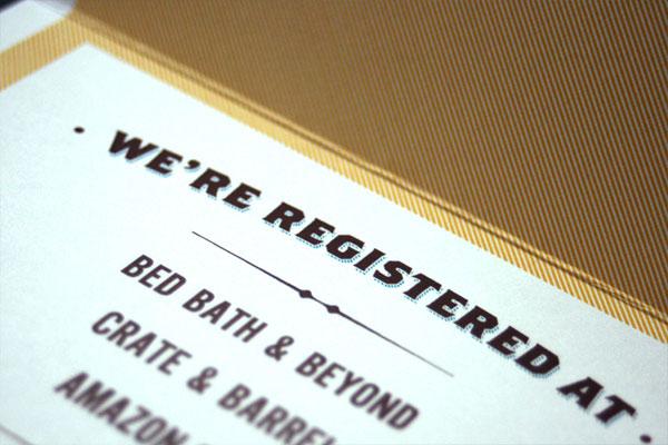 Wedding Registry Card Typography Invitation Suite