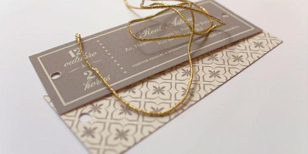 Moroccan Style Four Card Wedding Invitation