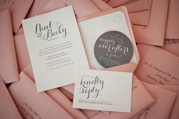 Paul Becky S Modern C Gray Wedding Invitations
