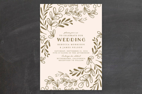 Wedding Vines Invitations By Chris Griffith