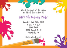 arts crafts kids birthday invitations