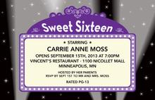 sweet sixteen birthday invitations