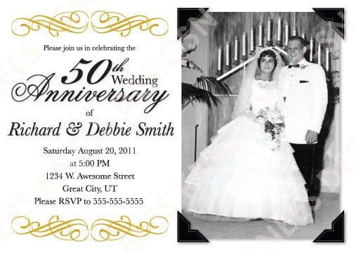 Anniversary Invitation Templates Free 1000 images about 25th and – 50th Wedding Anniversary Invitation Templates