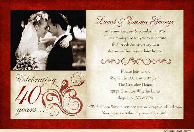 Golden Wedding Invitation Template wedding anniversary invitation – 50th Wedding Anniversary Invitation Templates