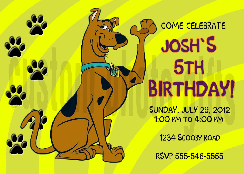 Scooby Doo Invitation To Print