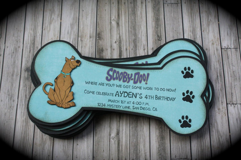 Scooby Doo Invitation Template