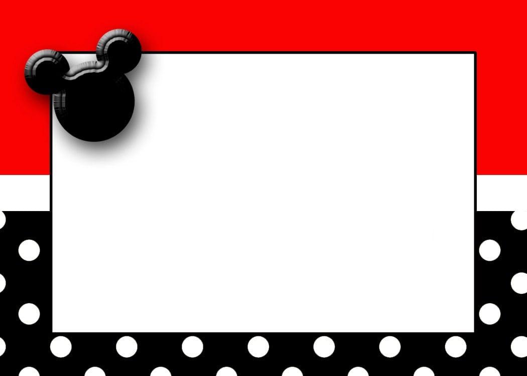 Free Mickey Mouse Invitation Template Online Rezzasite