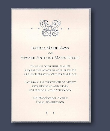 Twilight And Magenta Purple Fl Wedding Invites