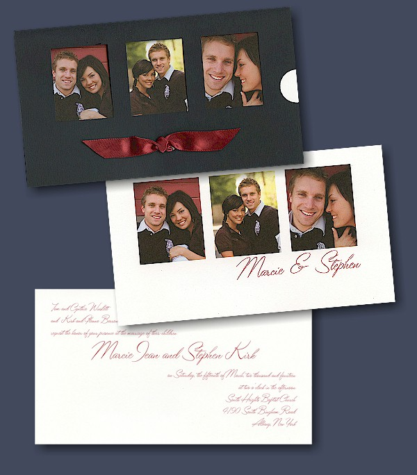 Invitations By Dawn Wedding Invite Card Couple Photo Front Back Dw31285fc