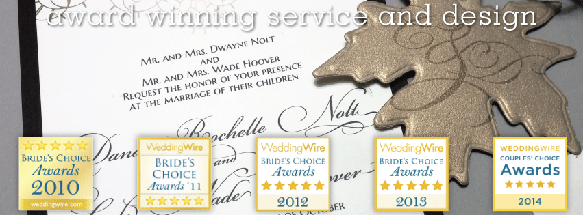invitations by chrissy weddingwire awards