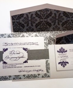 Silver Damask Wedding Suite | damask, silver, purple, suite
