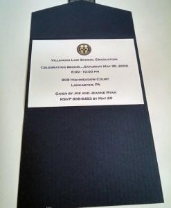 Navy Graduation Invite Open