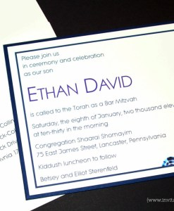 Ethan Bar Mitzvah Invitation
