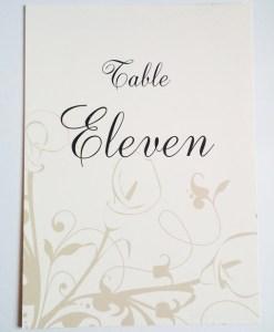 Calla Lily Table Name