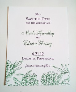 Green Save The Date