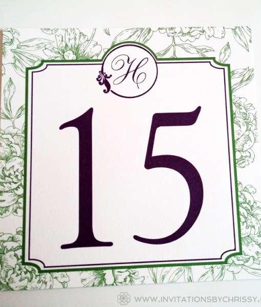 Green Table Number